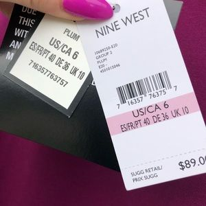 Nine West plum dress with lace sleeves